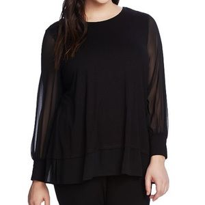 NWT / VINCE CAMUTO / PLUS VICTORIAN FASH BLOUSE